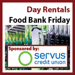 Food Bank Friday Rental Package Starts at 3pm - 3hours